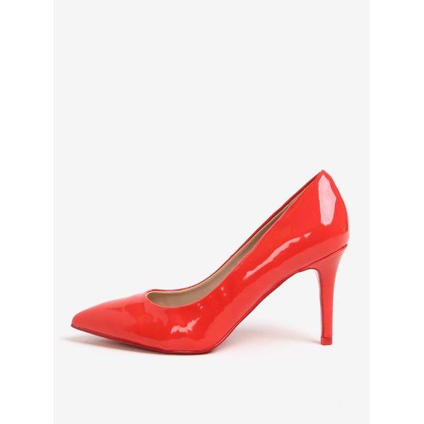 Pantofi rosii cu aspect lacuit Dorothy Perkins