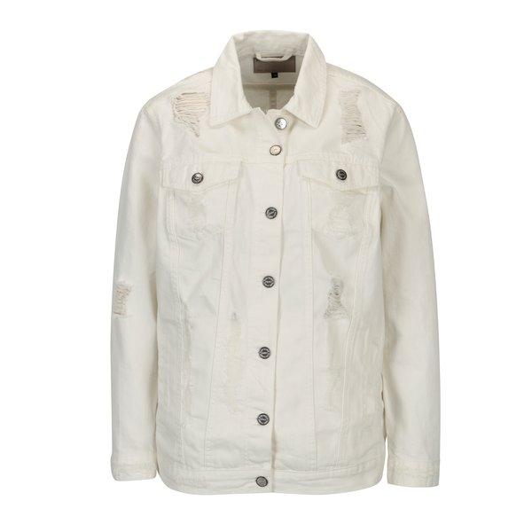 Jacheta din denim crem cu aspect uzat - ONLY Eva