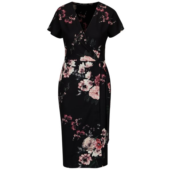 Rochie neagra petrecuta cu print floral – Dorothy Perkins