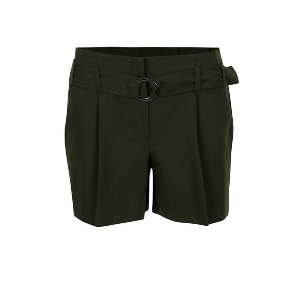 Pantaloni scurti verzi cu talie elastica - Dorothy Perkins