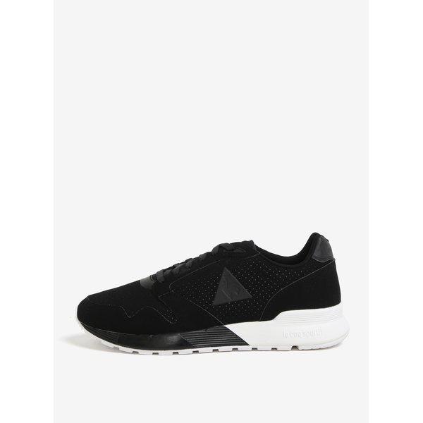 Pantofi sport negri cu aspect de piele intoarsa pentru barbati - Le Coq Sportif Omega Reflective