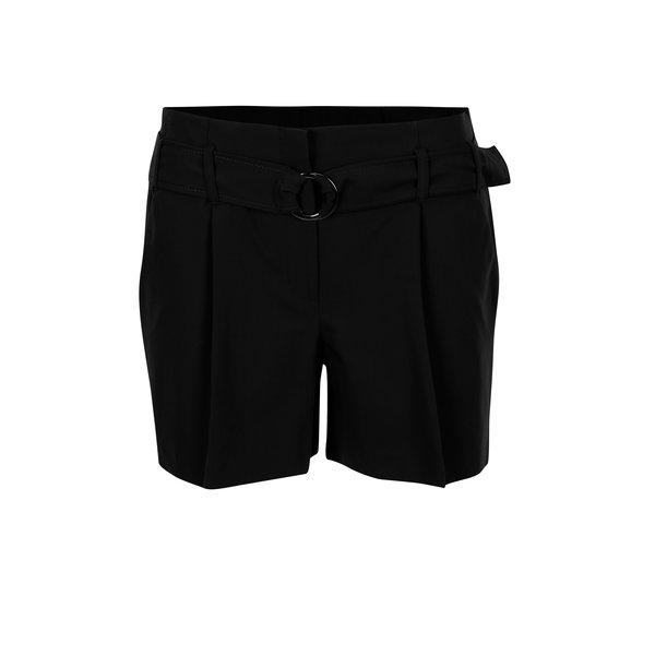 Pantaloni scurti negri cu talie elastica - Dorothy Perkins