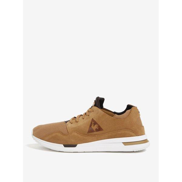 Pantofi sport maro din piele intoarsa si textil pentru barbati – Le Coq Sportif Pure Heavy