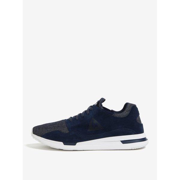Pantofi sport bleumarin din piele intoarsa si textil pentru barbati - Le Coq Sportif Pure Denim