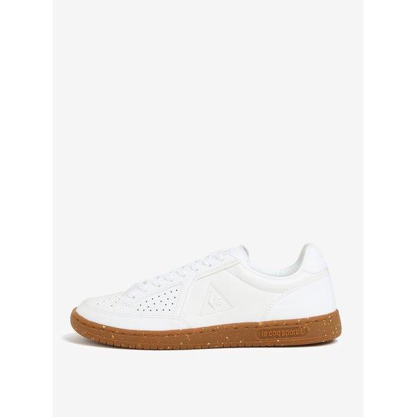 Tenisi albi din piele naturala pentru barbati - Le Coq Sportif Icons Lea Gum
