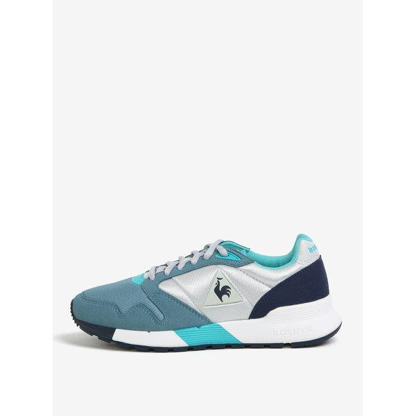 Pantofi sport gri&albastru pentru femei – Le Coq Sportif Omega Mesh