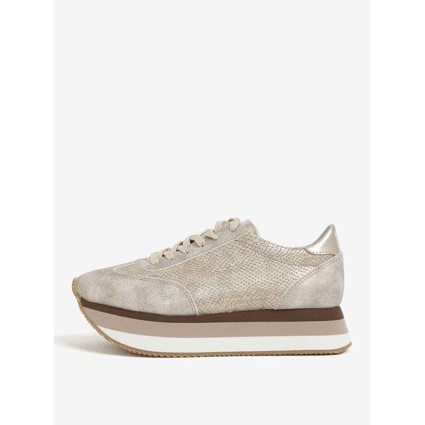 Pantofi sport bej cu platforma Tamaris