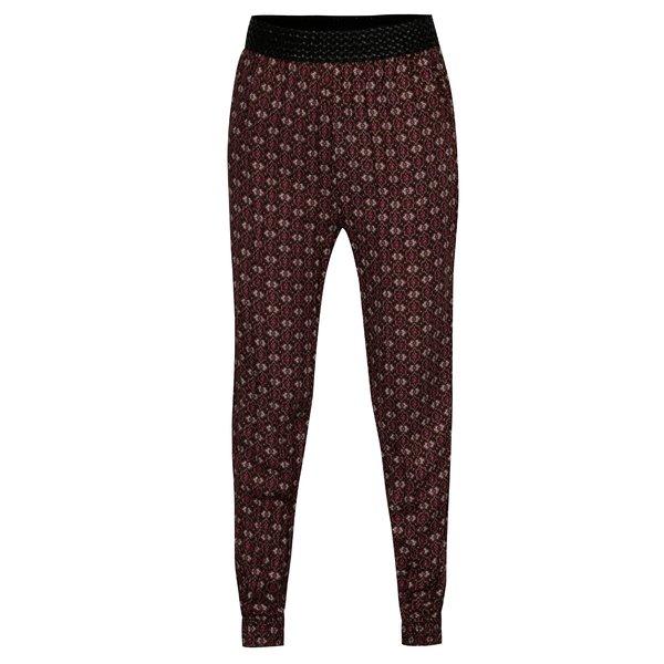 Pantaloni maro cu print oriental - Madonna