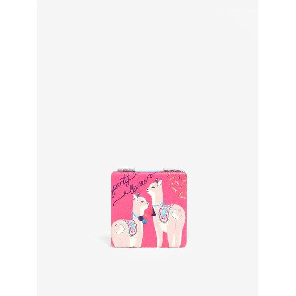 Oglinda roz compacta cu print lame - Disaster Candy Pop