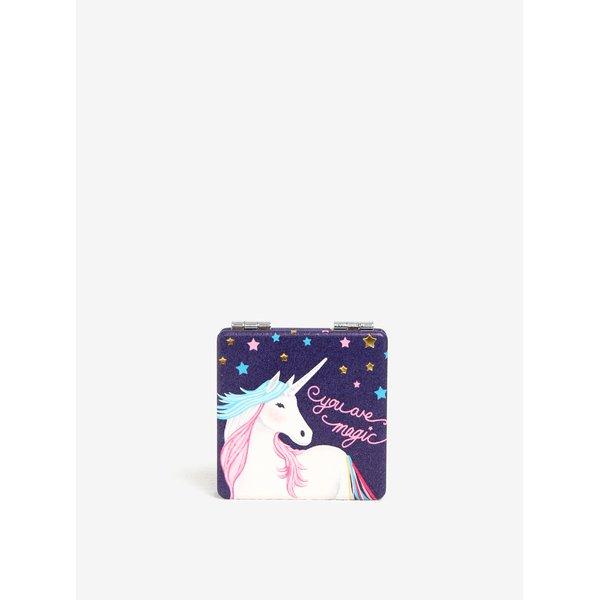 Oglinda indigo compacta cu print unicorn - Disaster Candy Pop