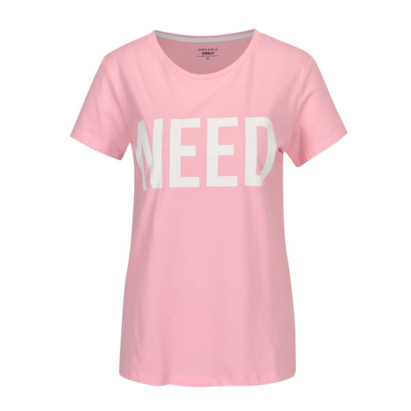 Tricou roz cu print - ONLY RIVA Need