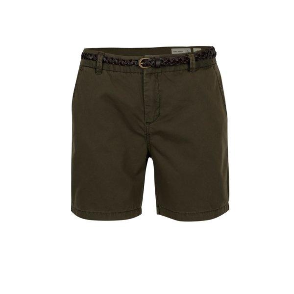 Pantaloni chino scurti kaki cu curea - VERO MODA Flame