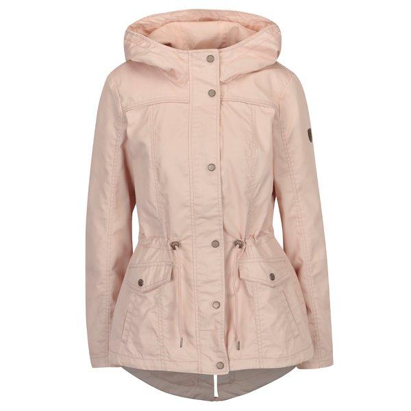 Jacheta parka roz cu gluga - ONLY New Kate