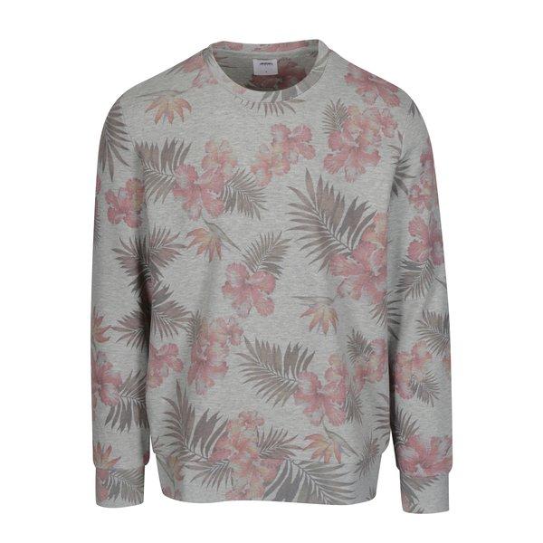 Bluza gri cu print floral Burton Menswear London