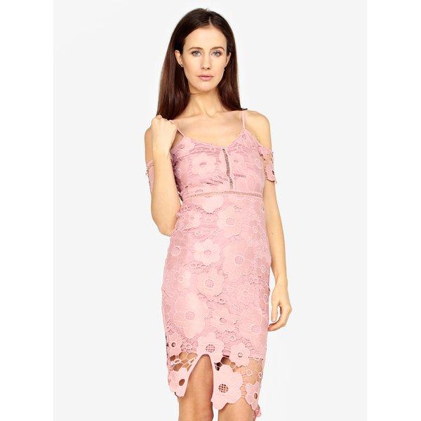 Rochie roz cu broderie florala si bretele subtiri ajustabile – MISSGUIDED