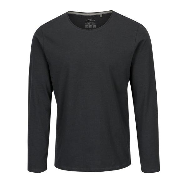 Bluza gri inchis slim fit pentru barbati s.Oliver