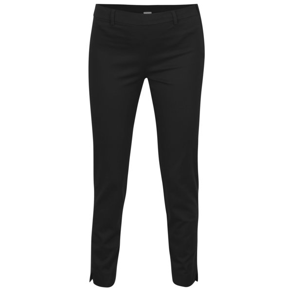 Pantaloni negri cu fermoar lateral - Jacqueline de Yong