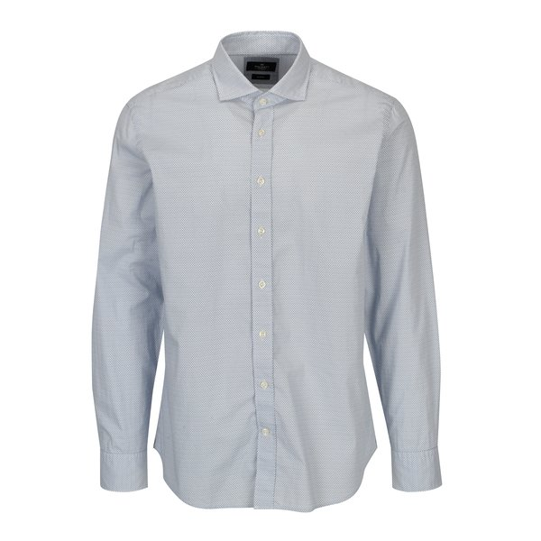 Camasa albastru&alb slim fit cu print - Hackett London