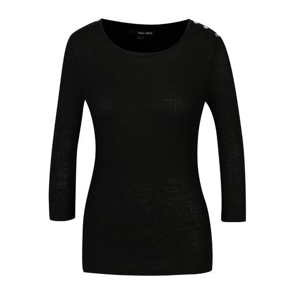 Bluza neagra cu capse pe umeri TALLY WEiJL