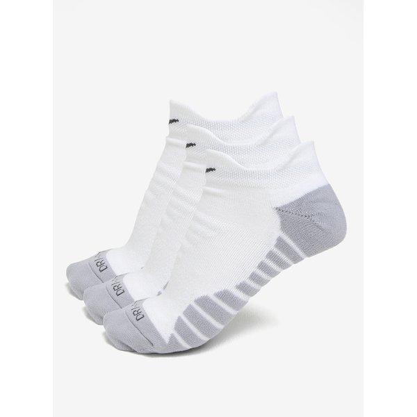 Set de 3 perechi de sosete alb & gri - Nike Dry Cushion Low