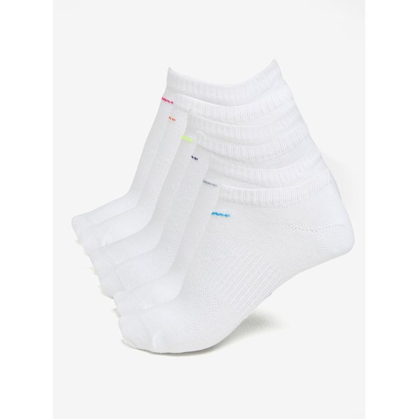 Set de 6 perechi de sosete albe pentru femei – Nike