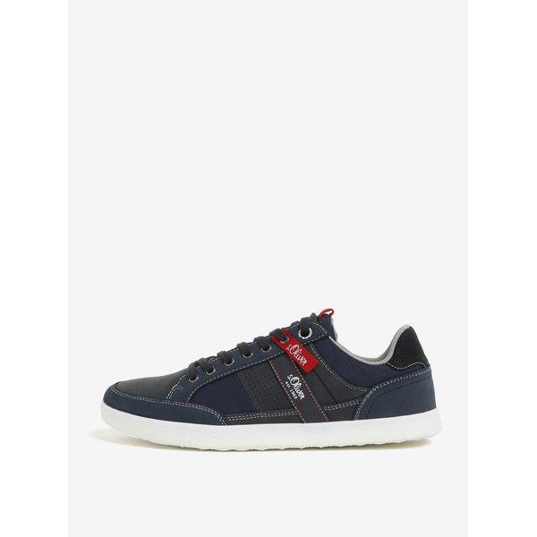 Pantofi sport bleumarin cu aplicatii si cusaturi decorative s.Oliver