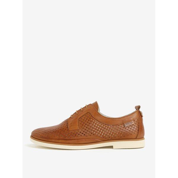 Pantofi maro din piele cu model perforat – Pikolinos Santorini