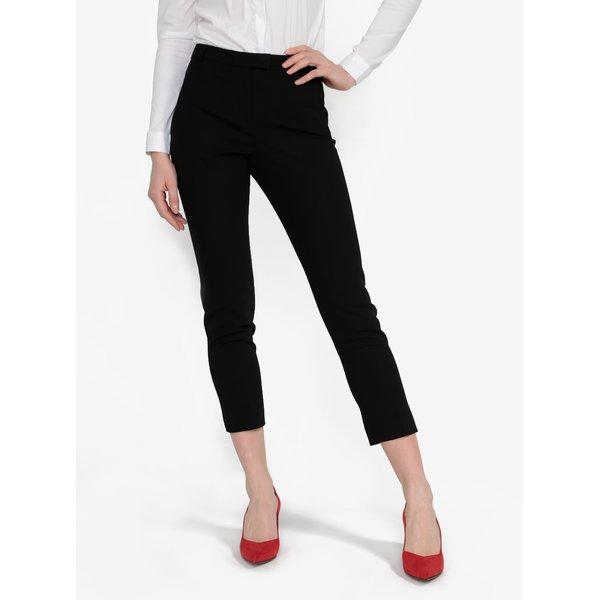 Pantaloni negri cropped cu talie inalta Miss Selfridge