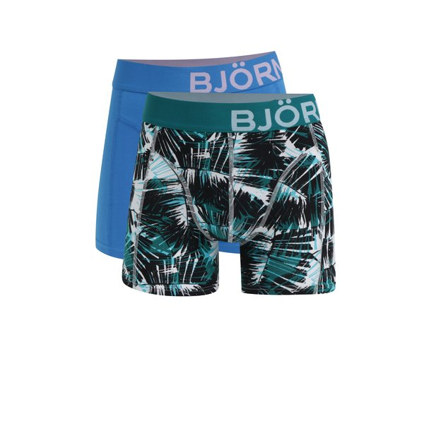 Set de 2 perechi de boxeri albastri&verzi - Björn Borg