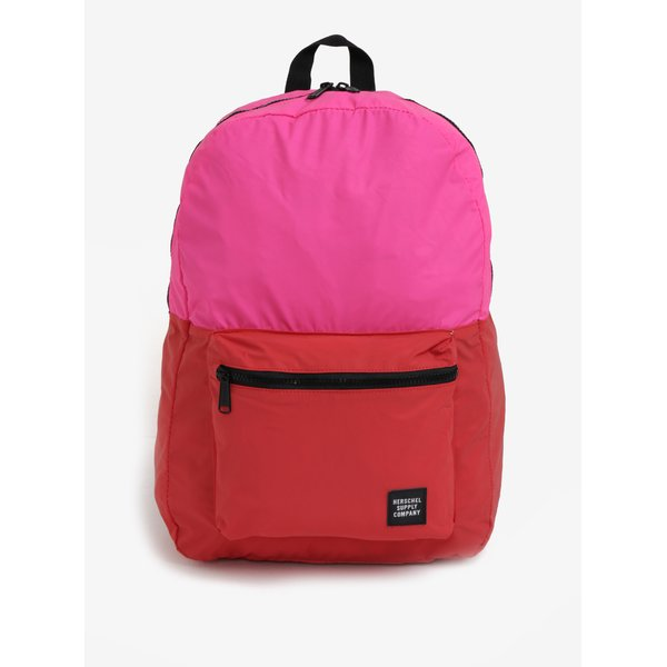 Rucsac pliabil roz cu rosu Herschel Packable Daypack 24,5 l