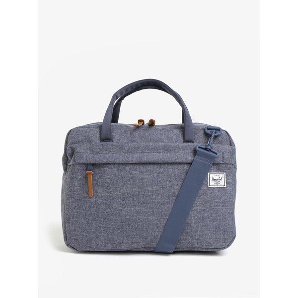 Geanta pentru laptop albastra cu bareta detasabila Herschel Gibson 15 l