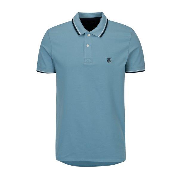 Tricou polo albastru cu broderie - Selected Homme Newseason