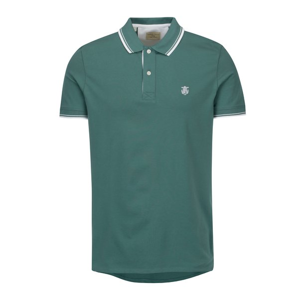 Tricou polo verde cu broderie - Selected Homme Newseason
