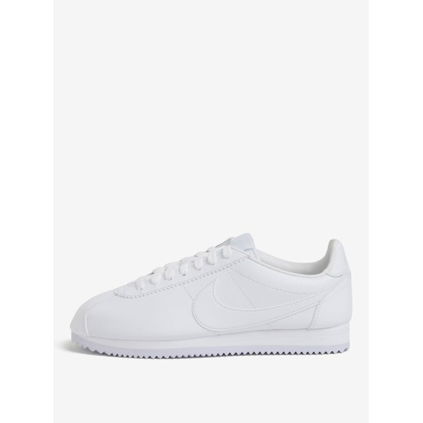 Pantofi sport albi din piele naturala pentru barbati Nike Classic Cortez