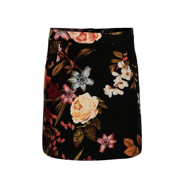 Fusta neagra cu print floral Dorothy Perkins