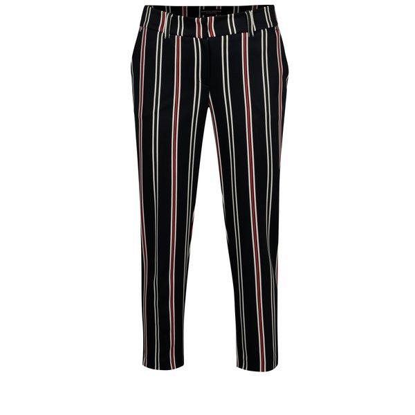 Pantaloni cropped bleumarin in dungi Dorothy Perkins