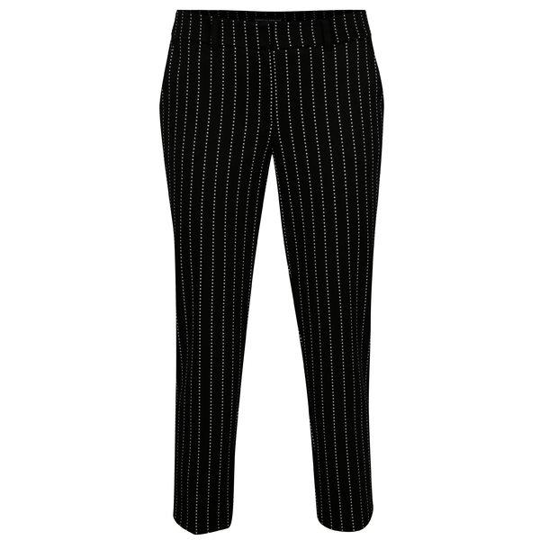 Pantaloni cropped negri in dungi Dorothy Perkins