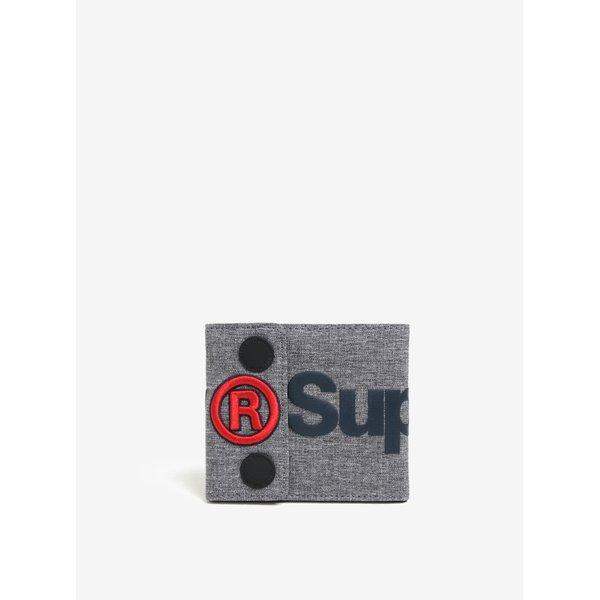 Portofel gri melanj cu print Superdry Wallet