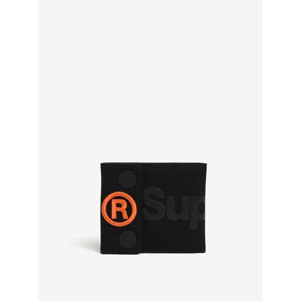 Portofel negru cu print Superdry Wallet