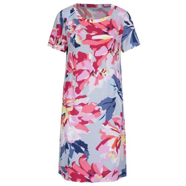 Rochie roz&albastru cu print floral - Tom Joule