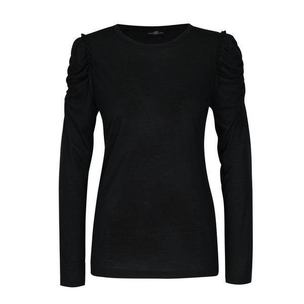 Bluza neagra cu maneci incretite Jacqueline de Yong Fanny