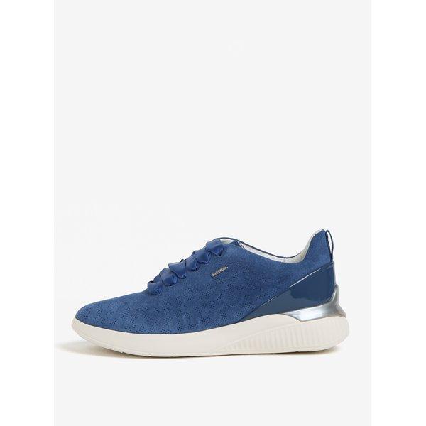 Pantofi sport albastri cu platforma pentru femei - Geox Theragon