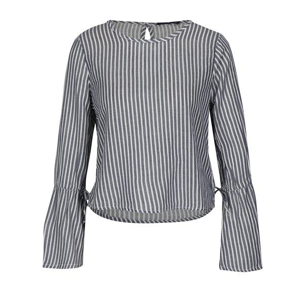 Bluza bleumarin & alb din amestec de in - ONLY Rosie