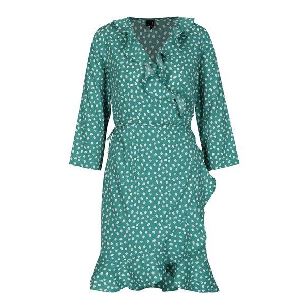 Rochie verde suprapusa cu volane VERO MODA Henna