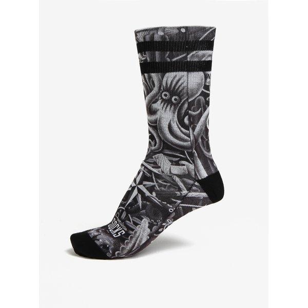 Sosete unisex negre&gri cu model - American Socks