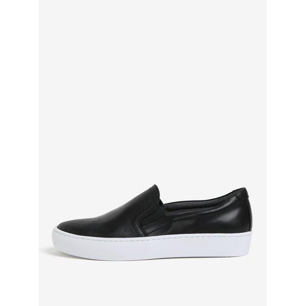 Pantofi slip-on negri din piele pentru femei Vagabond Zoe