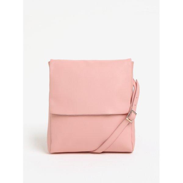 Geanta crossbody roz din piele Vagabond Nice