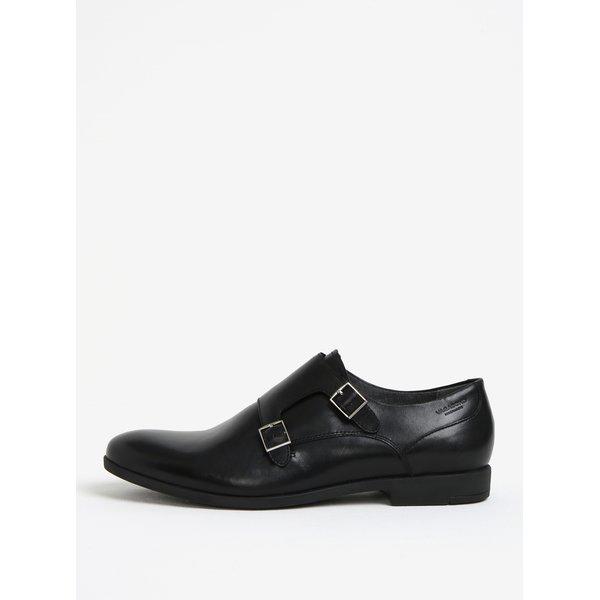 Pantofi negri din piele cu catarame pentru barbati Vagabond Linhope