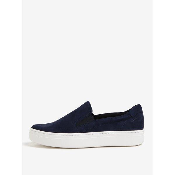 Pantofi slip-on bleumarin din piele intoarsa pentru femei Vagabond Camille