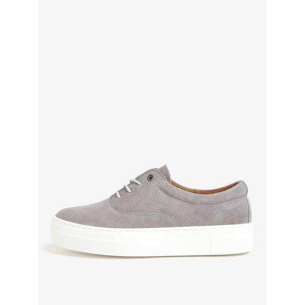 Pantofi sport gri din piele intoarsa cu platforma – OJJU QUIOS
